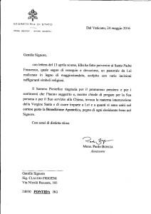 LETTERA VATICANO PASTORALE CLAUDIO FRIGENI