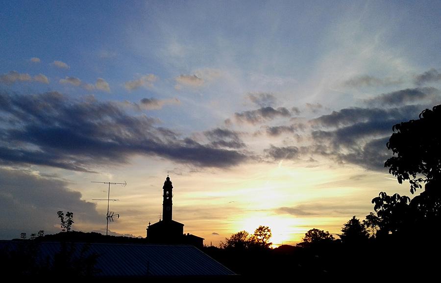 tramonto a Calco