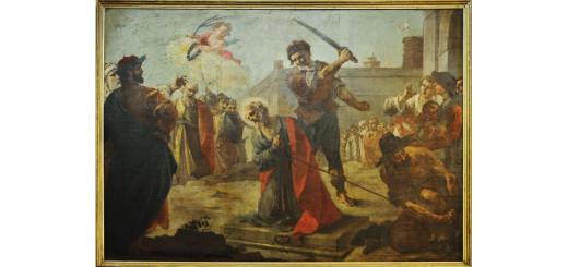 Il martirio di S. Paolo, Francesco Capella (1774-76 circa). Chiesa parrocchiale si S. Paolo, Monte Marenzo. Foto Giorgio Toneatto