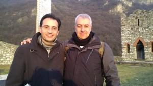 Io e Davide alla Rocca di Somasca.