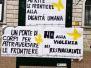 Un ponte di corpi - Stop ai respingimenti dei migranti. Flashmob anche a  Lecco (06.03.2021) - Foto Luciana Venturini e Maria Luigia Longo